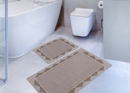 Set 2 covorase baie bumbac 100%, Hobby Home, Sapphire - Brown (Maro)