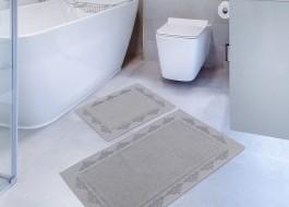 Set 2 covorase baie bumbac 100%, Hobby Home, Sapphire - Grey (Gri)