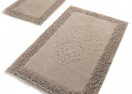 Set 2 covorase baie bumbac, Alessia Home, Piante - Beige