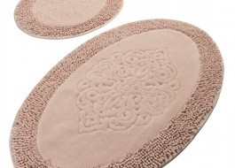 Set 2 covorase baie bumbac, Alessia Home, Piante Oval - Pink