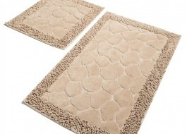 Set 2 covorase baie bumbac, Alessia Home, Stone - Beige