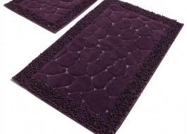 Set 2 covorase baie bumbac, Alessia Home, Stone - Purple