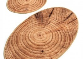 Set 2 covorase baie ovale, Alessia Home, Wood DJT