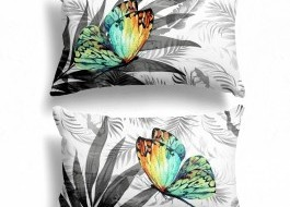 Set 2 fete de perna, Cotton Club, 50x70 cm Butterfly