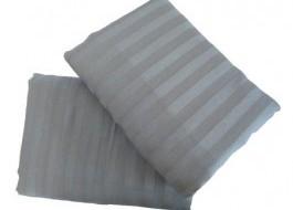 Set 2 fete de perna damasc 70x70 cm, Ralex Pucioasa, gri