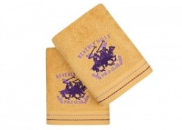 Set 2 prosoape 50x90cm bumbac 100%, Beverly Hills Polo Club 401 Mustar