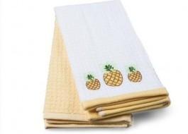 Set 2 prosoape bucatarie bumbac 100%, Ananas