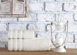 Set 2 prosoape bumbac 100%, Class Home Collection, Julyan Natural Crem