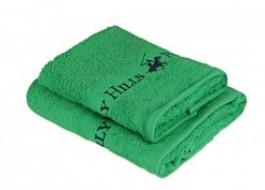 Set 2 prosoape bumbac 100%, Beverly Hills Polo Club,Tommy Yazi Verde 50x100/40x60cm