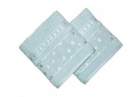 Set 2 prosoape bumbac 100%, bordura jacquard, Bahar Home, Spring - Blue
