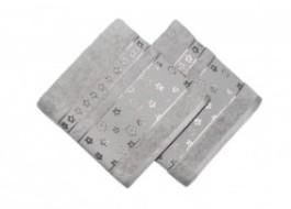 Set 2 prosoape bumbac 100%, bordura jacquard, Bahar Home, Spring - Hazelnut