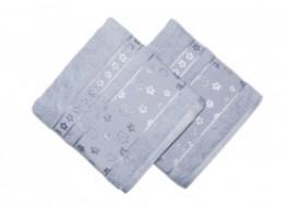 Set 2 prosoape bumbac 100%, bordura jacquard, Bahar Home, Spring - Lilac