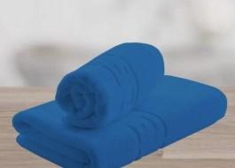Set 2 prosoape bumbac 100% cu bordura greceasca, Albastru