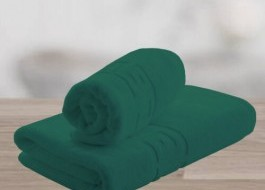 Set 2 prosoape bumbac 100% cu bordura greceasca, Verde