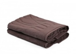 Set 2 prosoape de picioare, bumbac 100%, Beverly Hills Polo Club, Brown, 50x75, cod Gartex - Brown