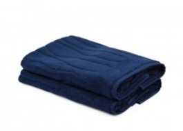 Set 2 prosoape de picioare, bumbac 100%, Beverly Hills Polo Club, Dark Blue, 50x75, cod Gartex - Marine