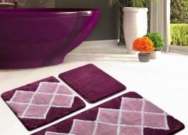 Set 3 covorase baie acril, Alessia Home, Havana Purple