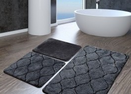 Set 3 covorase baie acril, Alessia Home, Infinity Antracit