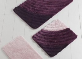 Set 3 covorase baie acril, Alessia Home, Well Purple