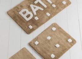 Set 3 covorase baie acril, Chilai Home, Bath Bej