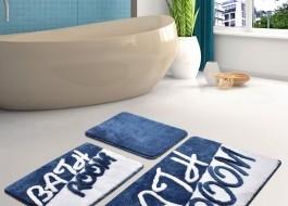 Set 3 covorase baie acril, Chilai Home, Bathroom Albastru