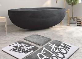 Set 3 covorase baie acril, Chilai Home, Bathroom Gri