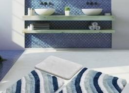 Set 3 covorase baie acril, Chilai Home, Colorful Albastru