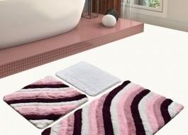 Set 3 covorase baie acril, Chilai Home, Colorful Purple