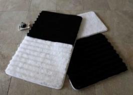 Set 3 covorase baie, Alessia Home, Alaçatı - Soft - Black