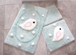Set 3 covorase baie, Alessia Home, Birdie - Mint