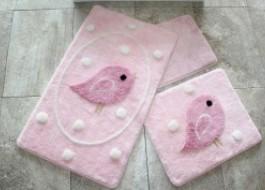 Set 3 covorase baie, Alessia Home, Birdie - Pink