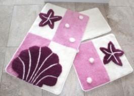 Set 3 covorase baie, Alessia Home, Deniz Yıldızı - Purple