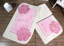 Set 3 covorase baie, Alessia Home, Dolce - Pink
