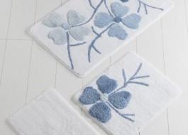 Set 3 covorase baie, Alessia Home, Flori de cires - Bleu