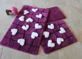 Set 3 covorase baie, Alessia Home, Kalbim - Purple