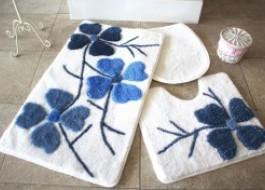 Set 3 covorase baie, Alessia Home, Flori de cires - albastru