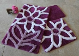 Set 3 covorase baie, Alessia Home, Naturel - Purple