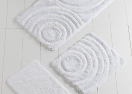 Set 3 covorase baie, Alessia Home, Wave - White