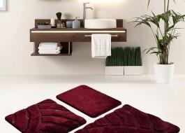 Set 3 covorase baie acril, Alessia Home, Alya - Cherry