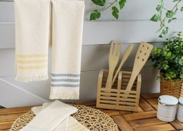 Set 6 prosoape bucatarie bumbac 100%, 30x50cm Natural