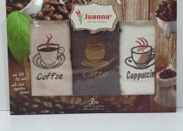 Set 3 prosoape bucatarie bumbac 100%, Coffe 6