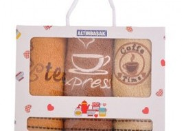 Set 3 prosoape bucatarie bumbac 100%,  Expresso
