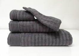 Set 3 prosoape si 1 manusa bumbac 100% , Bahar Tekstil, Bonisia Royal Anthracite