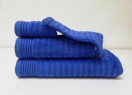 Set 3 prosoape si 1 manusa bumbac 100% , Bahar Tekstil, Bonisia Royal Blue