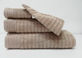 Set 3 prosoape si 1 manusa bumbac 100% , Bahar Tekstil, Bonisia Royal Brown