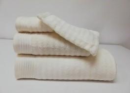 Set 3 prosoape si 1 manusa bumbac 100% , Bahar Tekstil, Bonisia Royal Cream