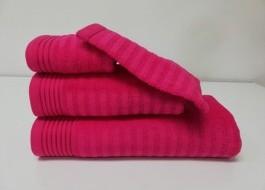 Set 3 prosoape si 1 manusa bumbac 100% , Bahar Tekstil, Bonisia Royal Fuschia