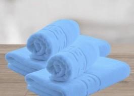 Set 4 prosoape bumbac 100% cu bordura greceasca, Family Pack Bleu