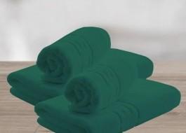Set 4 prosoape bumbac 100% cu bordura greceasca, Family Pack Verde