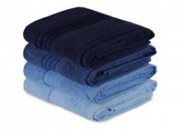 Set 4 prosoape bumbac 100%,Hobby Home, 50x90 cm, Rainbow - Albastru